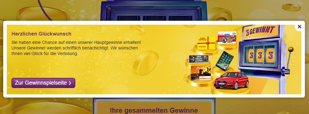 Deutschlandcard Gewinnspiel Wunsch Los