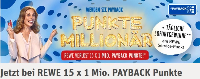 rewe payback punkte million r aktion im check gewinnspiel. Black Bedroom Furniture Sets. Home Design Ideas