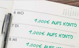Symbolbild 1.000€ täglich