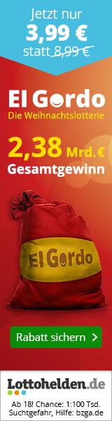 Weihnachtslotterie El Gordo Angebot