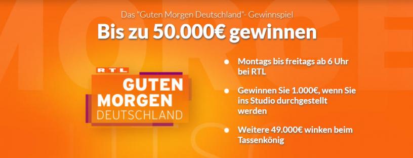 Guten Morgen Deutschland Gewinnspiel auf Winario.de Screenshot